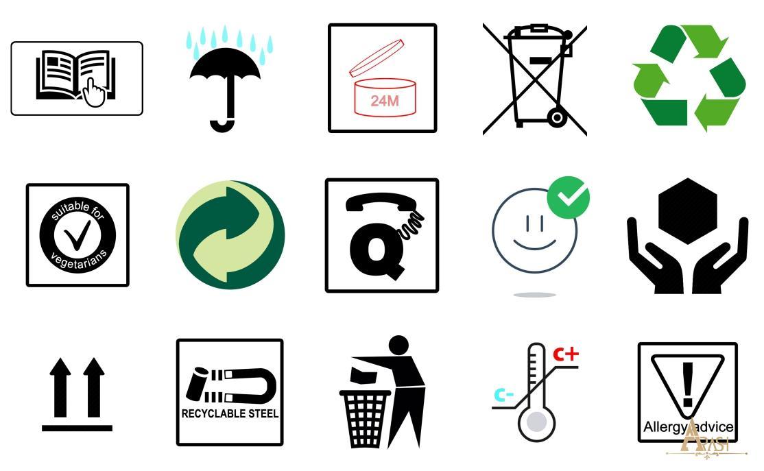 نماد های بسته بندی روی کارتن